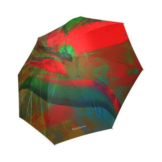 Botanical bird of paradise umbrella