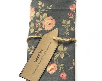 Mens pocket square floral, floral pocket square, grey and pink pocket square, blush pink pocket square, grey pocket square, mens handkerchie