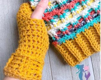 The Steeple Fingerless Gloves