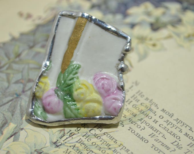 Porcelain ring made from vintage Belgian statuette
