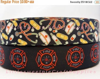 """On Sale 20%off 1"""" Carrier- Grosgrain printed ribbon scrapbooking hair bow supplies"""