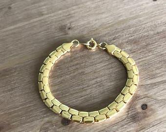 Avon Gold Tone Tennis Bracelet Interlocking Links 1980s Classy