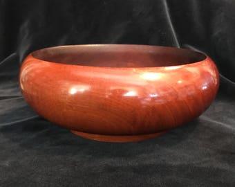 Mid Century Mahogany Bowl
