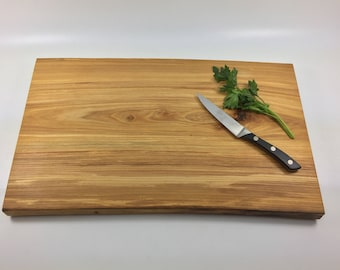 wood cutting board elm live edge/ wood serving tray / cheese board with natural live edge Ready to Ship