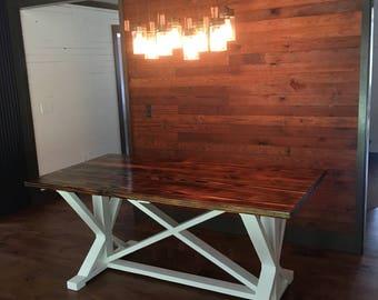 Trestle Style Farm Table