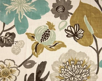 SHIPS SAME DAY Braemore Gorgeous Pearl Multi Colored Floral Home Decor Fabric By the 1/2 Yard