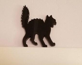 Halloween Cat Decor Door Frame Black
