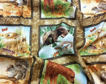 Four Seasons Autumn Wee Wild Life 23262 SPX Patchwork Quilting Fabric Squares