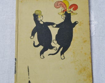 Old Possums Book of Practical Cats 1944 Edition Illustrated T S Elliot Vintage Childrens Book PanchosPorch