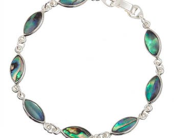 Tide Jewellery Paua Shell Oval Bracelet Gift Boxed