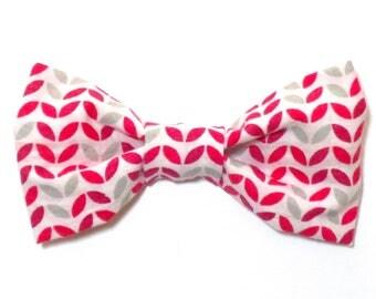 Valentine's Day Dog Bow Tie Bowtie Cat Pet Modern Heart Bow Tie Dog Collar Pet Cat No Sew Bow Tie Valentine Dog Clothes Puppy Accessories