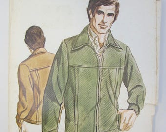Kwik Sew 402 Men's Casual Jacket Sewing Pattern Sizes 42 - 48 Uncut