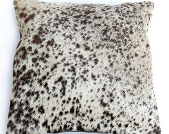 Natural Cowhide Luxurious Hair On Cushion/ Pillow Cover (15''x 15'') A27
