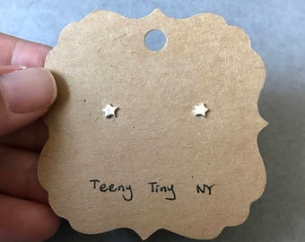 Silver Tiny Mini Star Stud Earrings -  Sterling Silver  [SE1031]