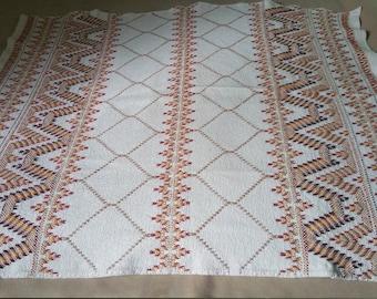 Swedish Weaving Huck Weaving Monks Cloth Lap Throw / Blanket / Table Cloth / Handmade Lap Throw / Swedish Weaved Throw