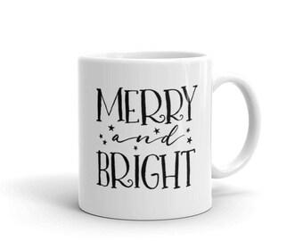 Merry And Bright Holiday Mug