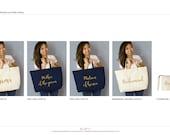 Custom Group Bridal Totes- 10 totes & 2 wristlets