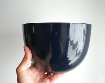 Mid Century / Danish Modern Dark Blue Arabia Finel of Finland Enamel Bowl