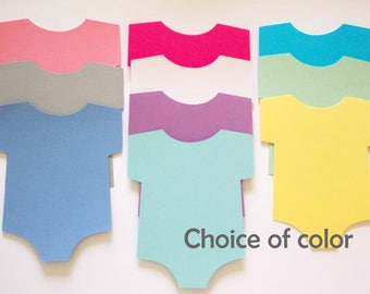 Onesie Cutouts, Wishes for Baby, Onesie Die Cuts, Advice Cards, Baby Shower Party Decoration, Onesie Decor, 20 CT.