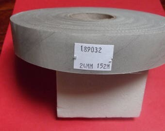 Ribbon of 152 meters, flat Ecru 24mm wide for craft and sewing