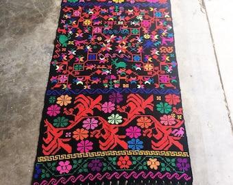 Vintage Handwoven Textile / Throw