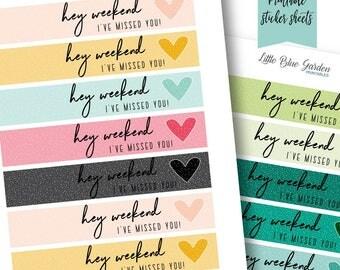 Day Designer Flagship Header Decorative Sticker Tape Printable Planner Sticker Bundle, Daily Planning Stickers Weekend Phrase Decorating Kit