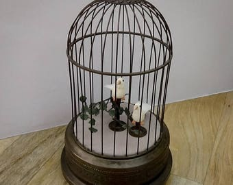 Modernised  German Antique Singing Bird Cage