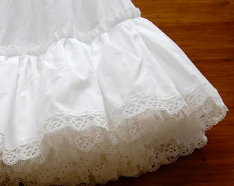 White Lace Cotton Petticoat