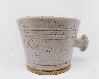 Shaving mug, ceramic shave mug, pottery shave mug, mug for shaving, Pottery mug for shaving, gift for him, gift for dad, soap mug