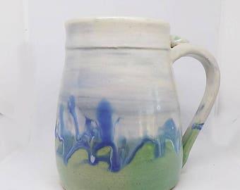 ceramic mug, stoneware mug, coffee mug, gift for him, pottery mug, Pint Mug for beer, Father's dad gift