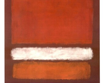 MARK ROTHKO - 'No. 7' - original exhibition poster - large (Edition of 500. Fondation Beyeler) e