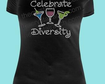 Celebrate Diversity Rhinestone Tee TB035
