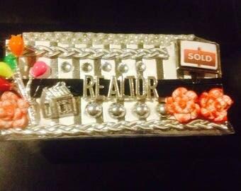 Realtor,Real estate business card holder, display stand