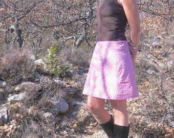 Passionflower in cotton and jersey dress