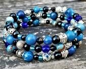 Montero Winter Festival Ice Bracelet: Blue, Black & Silver