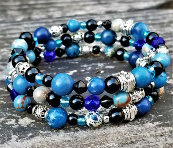 Montero Winter Festival Ice Bracelet: Blue, Black & Silver