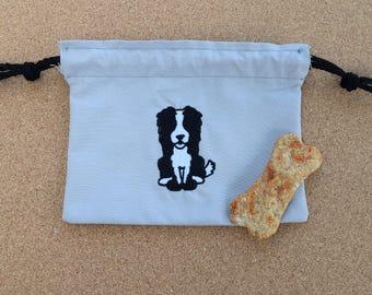 Border Collie Dog Treat Bag, Border Collie Bag, Collie Bag, Dog Treat Bag, Border Collie, Border Collies, Border Collie Treat Bag