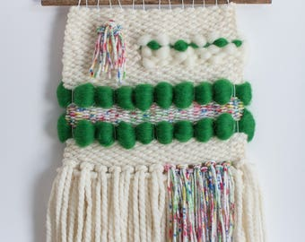 Welcome March woven wall hanging weaving