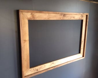 "Huge 36"" x 60""  Rustic Framed Chalkboard, Rustic Wedding Chalkboard, Kitchen Menu, Menu Board, Rustic Frame"