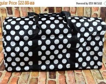 ON SALE Duffle Bag | Personalized Duffle Bag | Overnight Tote Bag |  Monogrammed Carry On | Monogrammed Duffel Bag | Polka Dot Duffle Bag |