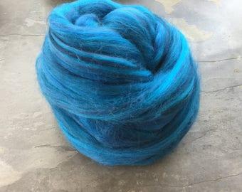 SALE custom blend fibre ELECTRIC BLUE 200G