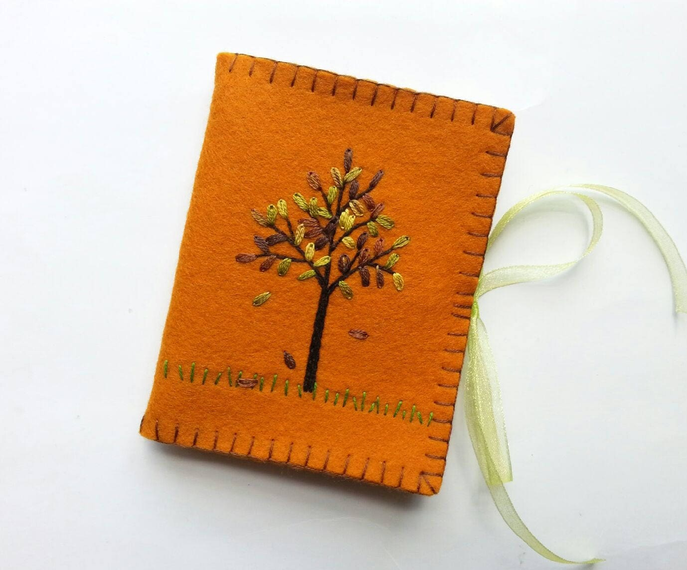 Wool Felt Needle Book Fall Needle Case Autumn Colors Needle