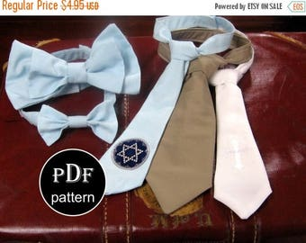 Bow tie PDF Sewing Pattern - Upcycled from Necktie - Bowtie ...