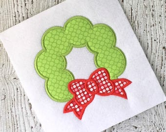 wreath applique - holiday applique - Christmas applique - Christmas embroidery - wreath embroidery - holiday embroidery - applique design
