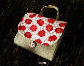 Tea Time Poppy Red clutch bag