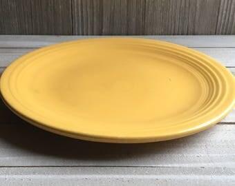 "Vintage Fiesta - 7"" Dessert / Salad Plate - Yellow"
