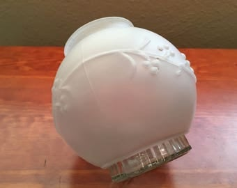 Vintage Frosted Fitter Globe, Ceiling Globe, Glass Light Dome, Glass Light Cover, Ceiling Light Cover