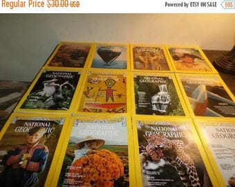 Save 25% Now National Geographic Magazine Complete Year 1977 12 Issues Excellent Condition