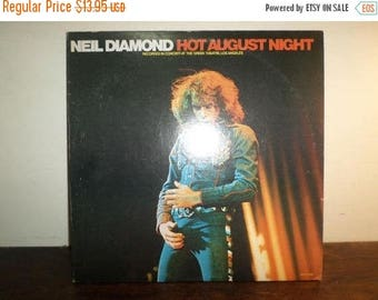 Save 30% Today Vintage 1980 LP Vinyl Record Neil Diamond Hot August Night Excellent Condition 9912