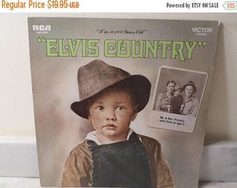 Save 30% Today Vintage 1971 Vinyl LP Record Elvis Country I'm 10,000 Years Old Orange Label Very Good Condition 14563